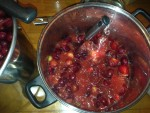Mashing the fruit